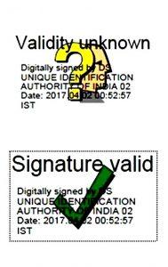 Aadhaar Signature Validation